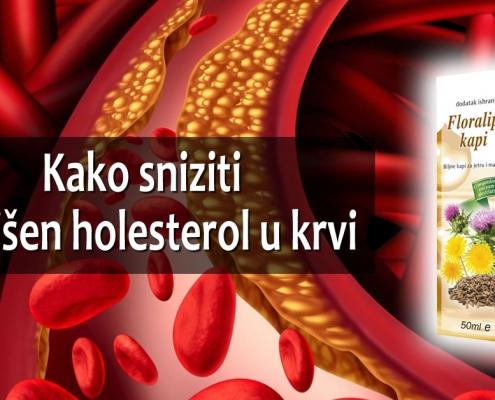 Kako sniziti povišen holesterol u krvi