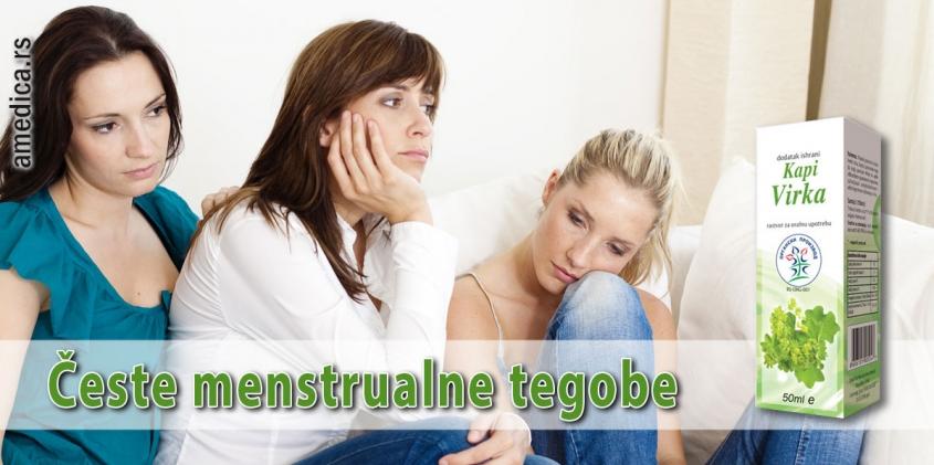 Česte menstrualne tegobe