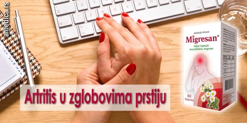 Artritis u zglobovima prstiju