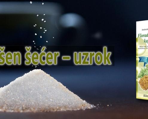 Povišen šećer – uzrok