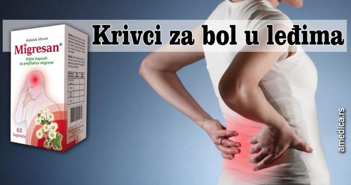 Krivci za bol u leđima