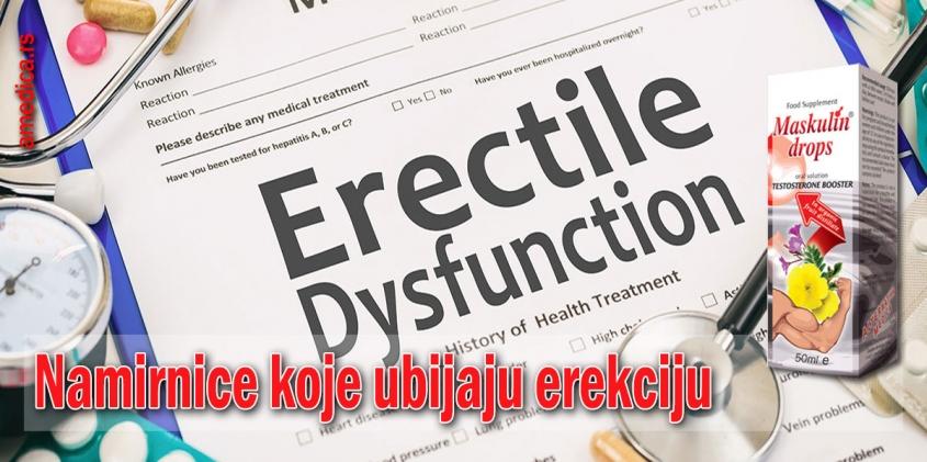 Namirnice koje ubijaju erekciju