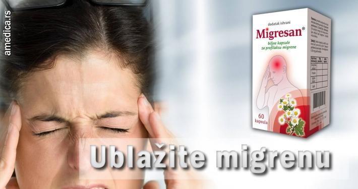 Ublažite migrenu